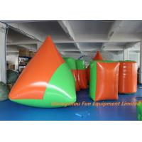 Quality Durable 0.9mm PVC Tarpaulin Inflatable Sport Games , Blow Up Bunkers for sale