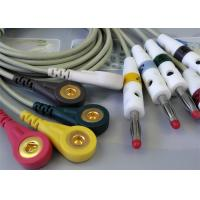Quality One Piece EKG Cable Banana Plug EKG Cable To Snap Type 2 Years Validity for sale