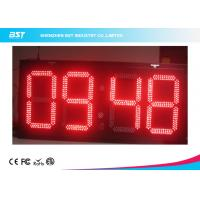 Quality Electronic Outdoor Large Led Digital Wall Clock Timer , Waterproof IP67 for sale