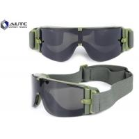 Quality Bulletproof Military Safety Glasses Anti Fog Colorful Easy Cleaning Fashion Design for sale