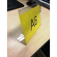 Quality L Shaped Acrylic Pop Displays , Plexiglass Price Tag Holder for sale