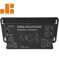 Quality 2 Channels Isolated DMX Signal Splitter RJ45 / Press Terminals Interfaces for sale