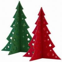 Quality Small Christmas Tree in 3mm Felt, Laser-cut of Size 15 x 13cm for sale
