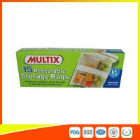 Quality Supermarket Plastic Food Storage Bags / Zip Up Storage Bags Resealable Food Safe for sale