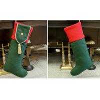 Quality Plain Style Personalized Fashion Gifts Polyester Patchwork Christmas Stocking for sale