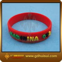 Quality round red fashion silicone bracelet for sale