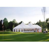 China Waterproof White Wedding Party Tent Flame Retardant Logo Printing Available for sale