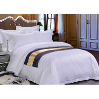 Quality Pure White Sateen Otel Duvet Bedding With Purple Bed Runner for sale