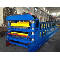 Quality 18 Forming Stations Double Layer Roof Tile Roll Forming Machine For Metal Roof Wall Panels for sale