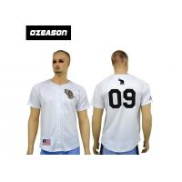 Quality Cheap 100% polyester blank design custom sublimation baseball jerseys with botton for sale