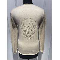 Buy Custom Black / Yellow / Grey Pullover Sweater , Womens Navy Cashmere V Neck at wholesale prices