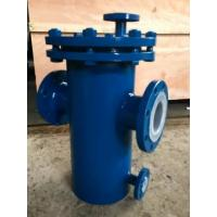 Carbon Steel Basket Water Meter Strainer Flanged End Connect With PTFE Lined