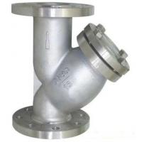 Quality PN16 Raised Face Flange End Industrial Water Strainers Cast Steel Body With 40 Microns SS304 Filter Element for sale