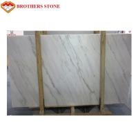 Custom Size White Marble Stone Flooring With 11.5Mpa Bending Resistance for sale