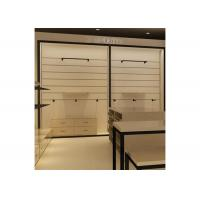 Quality Height 240CM  Wall Mounted Display Cabinets With Wood Shelf Metal Hanging Bar for sale