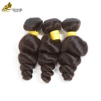 Quality Loose Wave Virgin Peruvian Hair Bundles Grade 10A , Malaysian Body Wave Hair Weave for sale