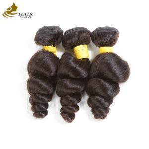 Loose Wave Virgin Peruvian Hair Bundles Grade 10A , Malaysian Body Wave Hair Weave