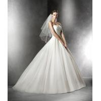 Quality NEW!!! Strapless Ball gown wedding dress Zip back with buttons Bridal gown #PLESAN for sale