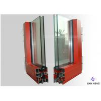 Quality Extruded Aluminium Window Extrusion Profiles Customized Color Two Layers Glass for sale
