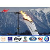 Quality 45m football stadium high mast pole lighting with lifting system for sale