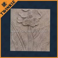 Buy cheap Abstract relief wall with flower carving / stone relief from wholesalers