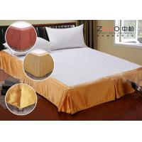Quality Simple Style Wrap Around Bed Skirt With Split Corners OEM / ODM Available for sale
