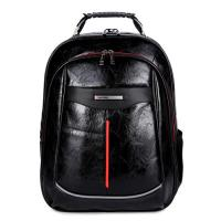 Quality Comfortable Outside Leather Backpack Bag , Durable Leather Laptop Backpack for sale