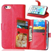 Buy iPhone 5 5S 6 6S Plus Wallet Case Retro Cover Bags Case Pouch 9 Cards Slot at wholesale prices