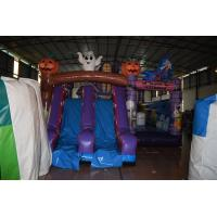 Quality Hallowmas Bouncer Double Slide Scared Inflatable Ghost Jumping Castle With Digital Printing for sale
