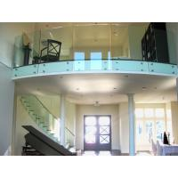 Quality Tempered tinted glass railing with stainless steel standoff / patch fitting railing for sale