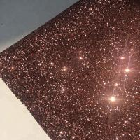 Quality PU Gold Glitter Wallpaper For Walls 0.9±0.15mm Thickness Non Woven Backing for sale
