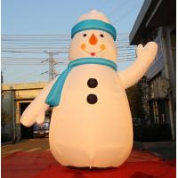 Quality 8OZ Fabric Inflatable Christmas Decorations / Blow Up Snowman For Winter for sale