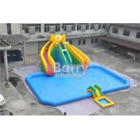 Mobile Large Commercial Inflatable Water Park With Elephant Slide Design Build for sale