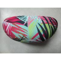 Quality Zebra Cloth Leather Clamshell Eyeglass Case Customised With Golden Foil Printing for sale