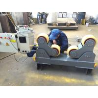 Quality Foot Padel Butt Welding Machine / Pipe Turning Rolls With PU Wheel 0.75KW for sale