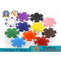 PMS Printing Casino Poker Chips Abs Plastic Inner Steel Core Environmental for sale