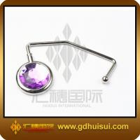 Quality fashionable zinc alloy purple bag hanger for sale