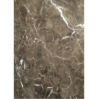 Light / Dark Brown Gloss Marble Floor Tiles Indoor Decoration For Wall / Stair for sale