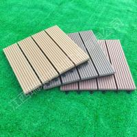 Quality 2017 wood plastic composite Solid DIY Decking flooring 300*300mm for interior/exterior home decor China Manufacture for sale