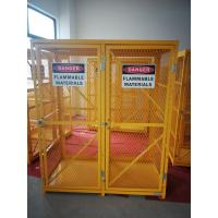 "Quality 71-3/4"" X 60"" X 30"" Assembled Yellow Industrial Safety Cabinets Gas Cage Cylinder Storage for sale"