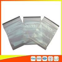Quality Transparent Strong Packing Ziplock Bags , Airtight Storage Bags Plastic LDPE for sale