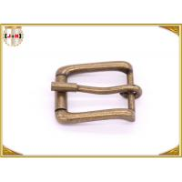 Quality Antique Brass Rolling Custom Metal Bag Buckle , Handbag Making Accessories for sale