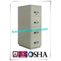 Quality Steel Fireproof File Cabinets 4 Drawer For Important Papers / Medium / Data for sale