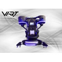 China 2 Kinds Special Effects VR Flight Simulator Cockpits Black Color 0.5M Up And Down Platform on sale