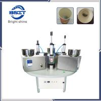 China Manual China SS304  tea cup packing machine for  disposable paper cup with filter paper on sale