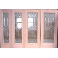 Quality New design decorative door glass with zinc caming for sale