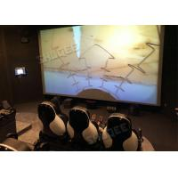 Quality Professional 5D Cinema System With Large Screen , Black Leather Seats for sale