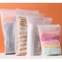 Quality BPA-Free Frosted Soft PEVA Travel Plastic Ziplock Bags Travel Kit Ziplock Pouches for sale