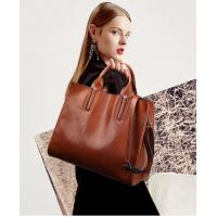 Quality Vintage Oil Waxing Leather Fashion Ladies HandBags One Shoulder Simple Style for sale