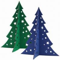 Quality Medium Christmas Tree in 5mm Felt, Laser-cut of Size 30 x 25.3cm for sale